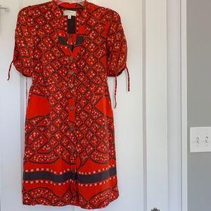 Anthro Moulinette Soeurs 100% Silk Dress